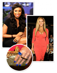 Jennifer Hudson & Beyonce Knowles Nails
