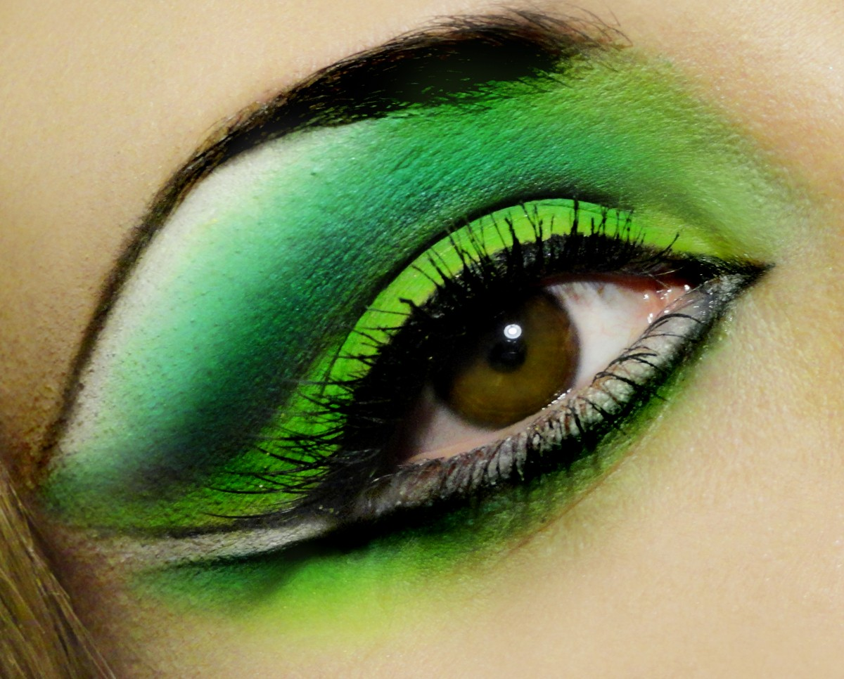 Green Eye Makeup Juliemissjuicy